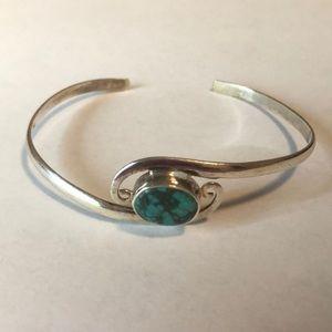 Jewelry - Silver 925 Turquoise Bracelet Nepal Fair Trade